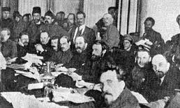 A typical Bolshevik meeting.