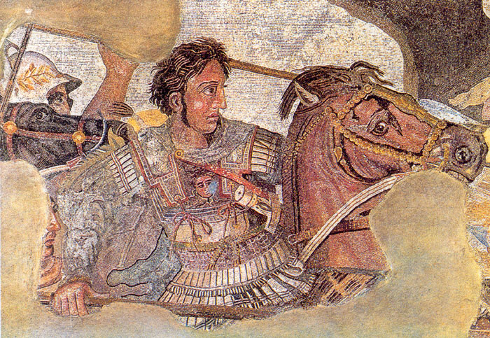Alexander the Great on his horse Bucephalus